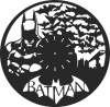 Batman wall clock - For Laser Cut DXF CDR SVG Files - free download