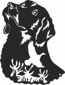 Dog with bird- For Laser Cut DXF CDR SVG Files - free download