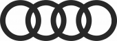 Audi Logo silhouette - For Laser Cut DXF CDR SVG Files - free download