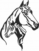 Horse wall scene art - For Laser Cut DXF CDR SVG Files - free download