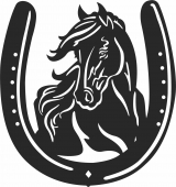 Horse Plate - For Laser Cut DXF CDR SVG Files - free download