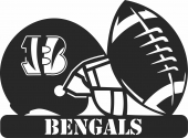 Cincinnati bengals nfl helmet logo - For Laser Cut DXF CDR SVG Files - free download
