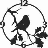 Bird Wall Clock  - For Laser Cut DXF CDR SVG Files - free download