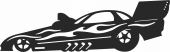 Jet racing Car  - For Laser Cut DXF CDR SVG Files - free download