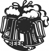 Beer wall clock - For Laser Cut DXF CDR SVG Files - free download