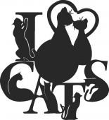 Cat Clock Pet Lovers  lovers  - For Laser Cut DXF CDR SVG Files - free download
