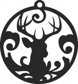 Christmas Deer DXF SVG CDR Cut File, ready to cut for laser Router plasma