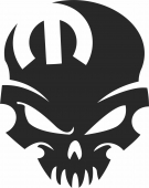 Mopar skull  - For Laser Cut DXF CDR SVG Files - free download