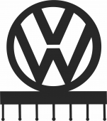 Volkswagen wall hooks keys holder - For Laser Cut DXF CDR SVG Files - free download