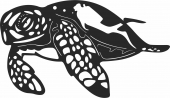 Sea turtle  - For Laser Cut DXF CDR SVG Files - free download