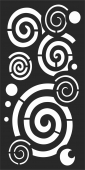 Circles Style Hanging Screen Spliy Panel  - For Laser Cut DXF CDR SVG Files - free download