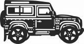 Jeep 4x4 clipart car silhouette - For Laser Cut DXF CDR SVG Files - free download