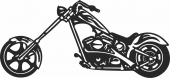 MOTORCYCLE - For Laser Cut DXF CDR SVG Files - free download