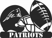 New england patriots nfl helmet logo - For Laser Cut DXF CDR SVG Files - free download