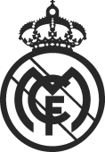Real madrid LOGO - DXF CNC dxf for Plasma Laser Waterjet Plotter Router Cut Ready Vector CNC file