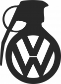 Volkswagen Grenade - For Laser Cut DXF CDR SVG Files - free download