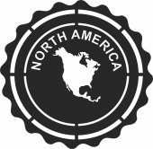 North america plaque sign  - For Laser Cut DXF CDR SVG Files - free download