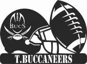 Tampa Bay Buccaneers NFL Helmet Logo - For Laser Cut DXF CDR SVG Files - free download