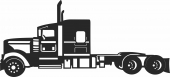 Semi truck auto- For Laser Cut DXF CDR SVG Files - free download