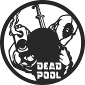 Dead Pool Wall clock - DXF SVG CDR Cut File, ready to cut for laser Router plasma