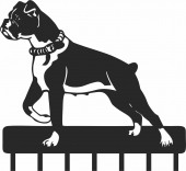 Boxer dog wall key holder hook hanger  - For Laser Cut DXF CDR SVG Files - free download