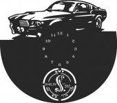 Ford GT500 wall clock  - DXF SVG CDR Cut File, ready to cut for laser Router plasma