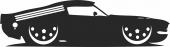 1967 car Ford Shelby Gt 500 - For Laser Cut DXF CDR SVG Files - free download