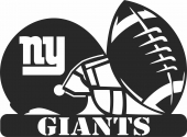 New york giants nfl helmet logo - For Laser Cut DXF CDR SVG Files - free download