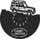 Land rover clock - DXF CNC dxf for Plasma Laser Waterjet Plotter Router Cut Ready Vector CNC file