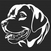 Decorative Portrait Of Dog Labrador  - For Laser Cut DXF CDR SVG Files - free download