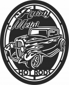 Hot rods classic car  - For Laser Cut DXF CDR SVG Files - free download