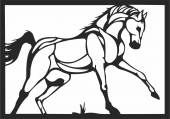 Pattern horse - For Laser Cut DXF CDR SVG Files - free download