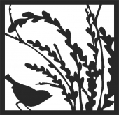 Bird scene - DXF CNC dxf for Plasma Laser Waterjet Plotter Router Cut Ready Vector CNC file