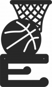 Medal Hanger for Basketball - For Laser Cut DXF CDR SVG Files - free download