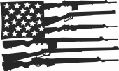 America s Weapons  - For Laser Cut DXF CDR SVG Files - free download