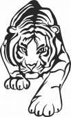 Hunting tiger decor art animal - For Laser Cut DXF CDR SVG Files - free download