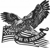 Proud to be an american eagle flag military  - For Laser Cut DXF CDR SVG Files - free download