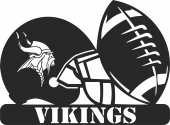Minnesota vikings nfl helmet logo - For Laser Cut DXF CDR SVG Files - free download