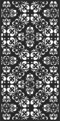 Decorative pattern wall screens panel for doors  - For Laser Cut DXF CDR SVG Files - free download
