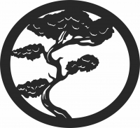 Bonsai tree wall decor art  - For Laser Cut DXF CDR SVG Files - free download