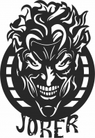 Joker sign scary face wall decor - For Laser Cut DXF CDR SVG Files - free download