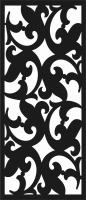 door , fishes Design pattern screen panel file cdr and dxf free vector download for laser cut cnc