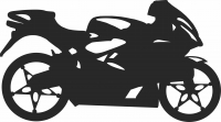 sport motorcycle  - For Laser Cut DXF CDR SVG Files - free download
