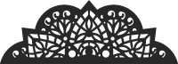 Decorative Pattern For Laser Cut DXF CDR SVG Files - free download