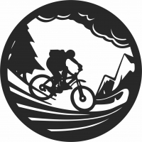 BIKE MOUNTAIN - For Laser Cut DXF CDR SVG Files - free download