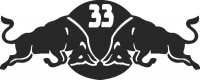Bull 33 - For Laser Cut DXF CDR SVG Files - free download