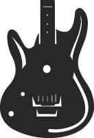 GUITAR wall clock - DXF SVG CDR Cut File, ready to cut for laser Router plasma