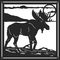 Moose - DXF CNC dxf for Plasma Laser Waterjet Plotter Router Cut Ready Vector CNC file