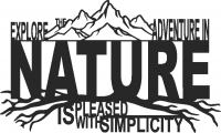 Nature scene - DXF CNC dxf for Plasma Laser Waterjet Plotter Router Cut Ready Vector CNC file