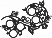 Family Decorative Picture- For Laser Cut DXF CDR SVG Files - free download